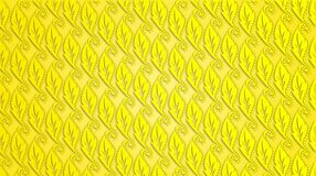 Yellow leaf with dots bright pattern background Royalty Free Stock Image