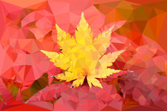 Yellow leaf vector polygon Royalty Free Stock Photography
