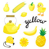 Yellow. Learn the color. Education set. Illustration of primary colors. Vector illustration Stock Photo