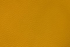 Yellow leather background. Lemon Yellow leather texture. structured background design Stock Photos