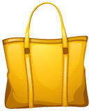 A yellow leather bag Royalty Free Stock Images