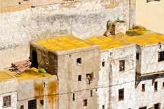 Yellow leather, Fes Morocco Royalty Free Stock Image