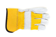 Yellow leather gloves Royalty Free Stock Images