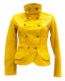 Yellow leather jacket Stock Photography