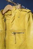 Yellow  leather jacket Royalty Free Stock Image
