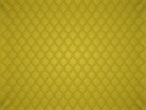 Yellow leather pattern with buttons and bumps. Luxury background Stock Photos