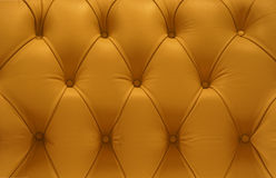 Yellow Leather pattern sofa Royalty Free Stock Photography