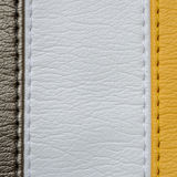 Yellow leather texture background Stock Images