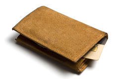 Yellow Leather Wallet Stock Image