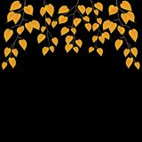 Yellow leaves over black. Autumn vector background. Yellow leaves over black. Autumn vector background royalty free illustration