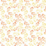 Yellow leaves. Watercolor autumn seamless pattern, cute design Royalty Free Stock Images