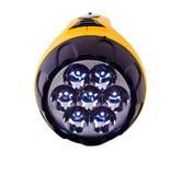 Yellow LED flashlight Stock Photos