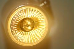 Yellow Led light bulb. Shine Stock Photography