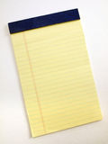 Yellow Legal pad 2 Stock Images