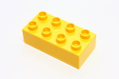 Yellow lego Stock Image