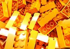 Yellow Lego Bricks stock image