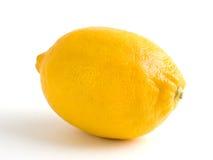 Yellow lemon_01. Ripe yellow lemon isolated on a white background Stock Photo