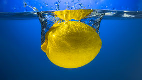 Yellow lemon Stock Photo