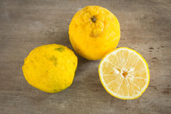 Yellow lemon or citrus Royalty Free Stock Photography