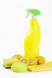 Yellow Lemon Cleaner Stock Images