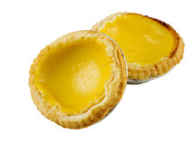Yellow Lemon egg tarts stock photo