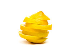 Yellow lemon isolated Royalty Free Stock Image