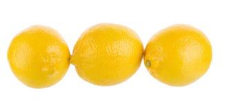 yellow lemon isolated on over white background Royalty Free Stock Photography