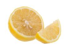yellow lemon isolated on over white background Royalty Free Stock Image