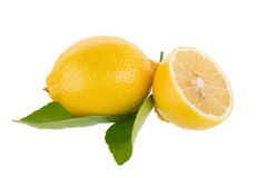 yellow lemon isolated on over white background Stock Image