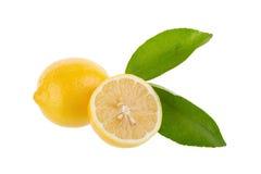 yellow lemon isolated on over white background Stock Photos