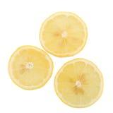 yellow lemon isolated on over white background Stock Photography