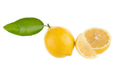 yellow lemon isolated on over white background Royalty Free Stock Photography