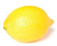 The yellow lemon is isolated on a white background Stock Image
