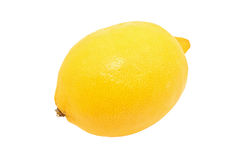 Yellow lemon, isolated on white background Stock Photography