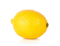 Yellow Lemon isolated on the white background Royalty Free Stock Photo