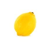 Yellow Lemon isolated on the white background Stock Photography