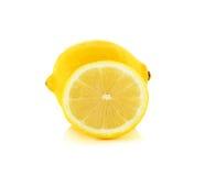 Yellow Lemon isolated on the white background Royalty Free Stock Photo