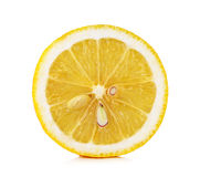Yellow Lemon isolated on the white background Royalty Free Stock Image