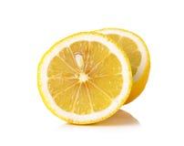 Yellow Lemon isolated on the white background Stock Images