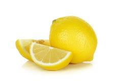 Yellow Lemon isolated on the white background Stock Image