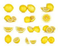 Yellow Lemon isolated on the white background Stock Image