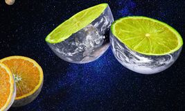 Yellow, Lemon Lime, Lime, Citric Acid Royalty Free Stock Photography