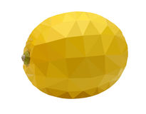 Yellow Lemon Polygon vector art Stock Photography