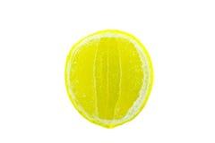 Yellow lemon slice pattern Stock Photos