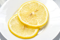 Yellow Lemon Slice Stock Photography