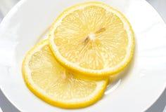 Yellow Lemon Slice Stock Photography