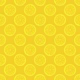 Yellow lemon slices seamless pattern Stock Images
