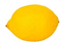 Yellow lemon on a white background Stock Photos