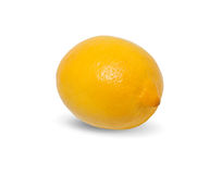 Yellow lemon on white background Royalty Free Stock Image