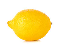 Yellow Lemon  on the white background Royalty Free Stock Photography